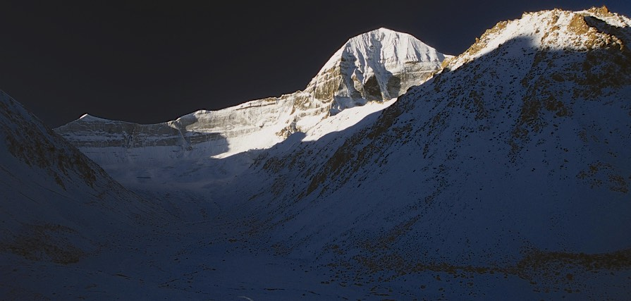 North/North east side of Mount Kailash at sunrise