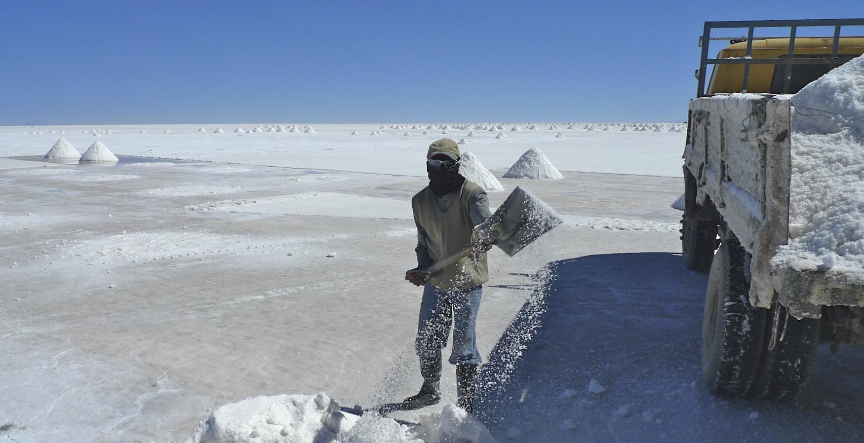 Salt co-op on the Salar Uyuni