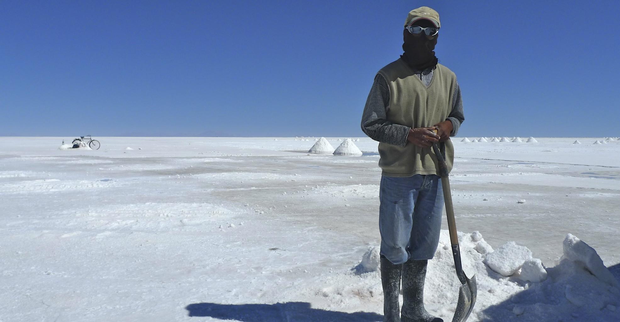 Local salt co-op on the Salar Uyuni