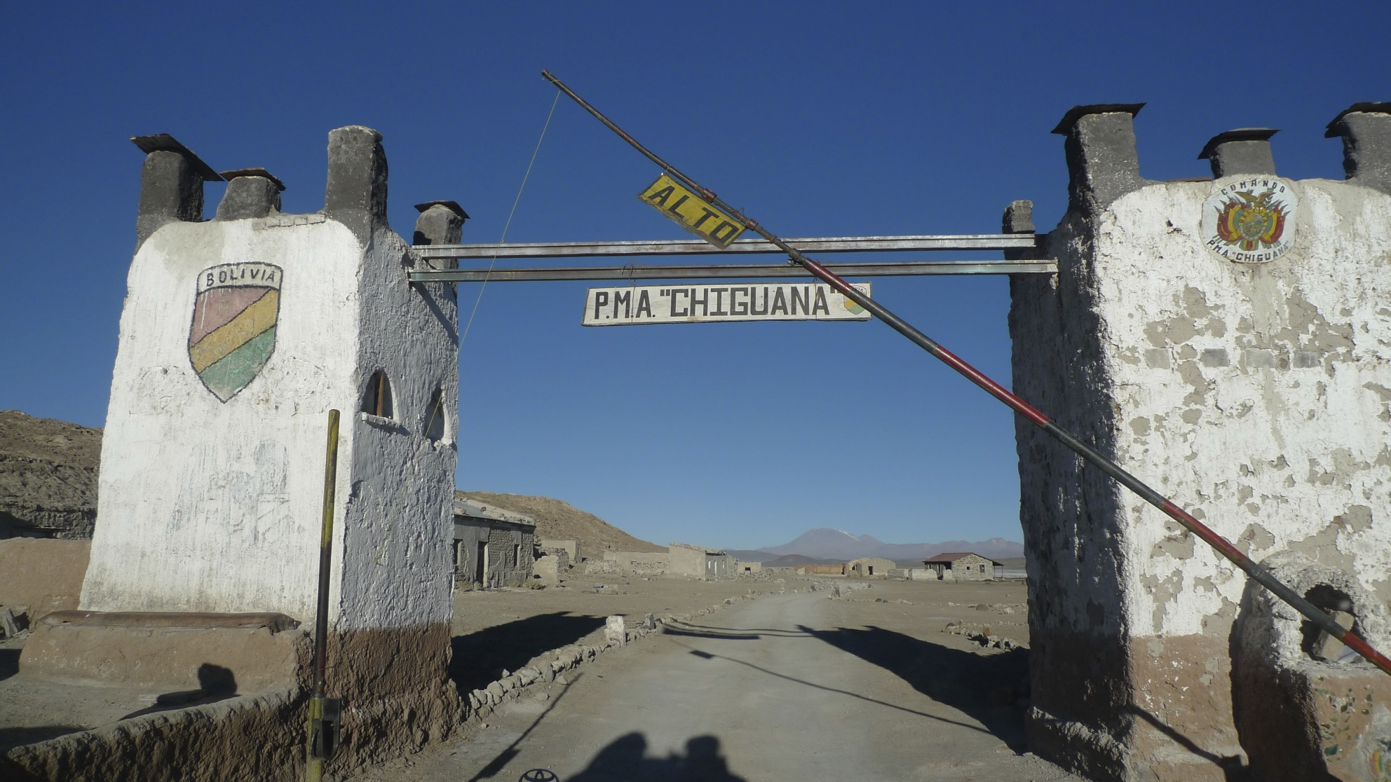 Military outpost in the Atacama