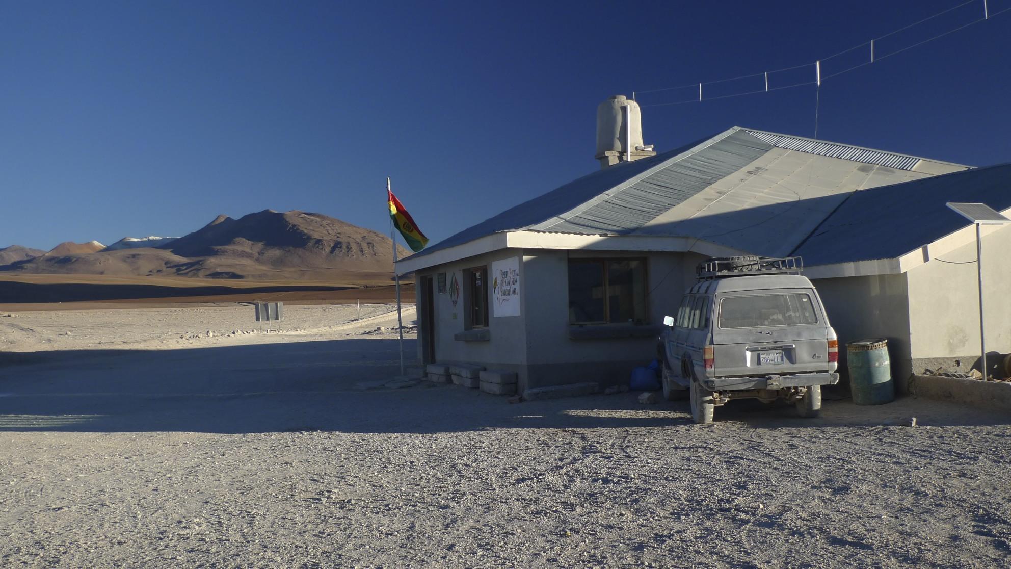 The Border post between Bolivia and Chile at Laguna Verde