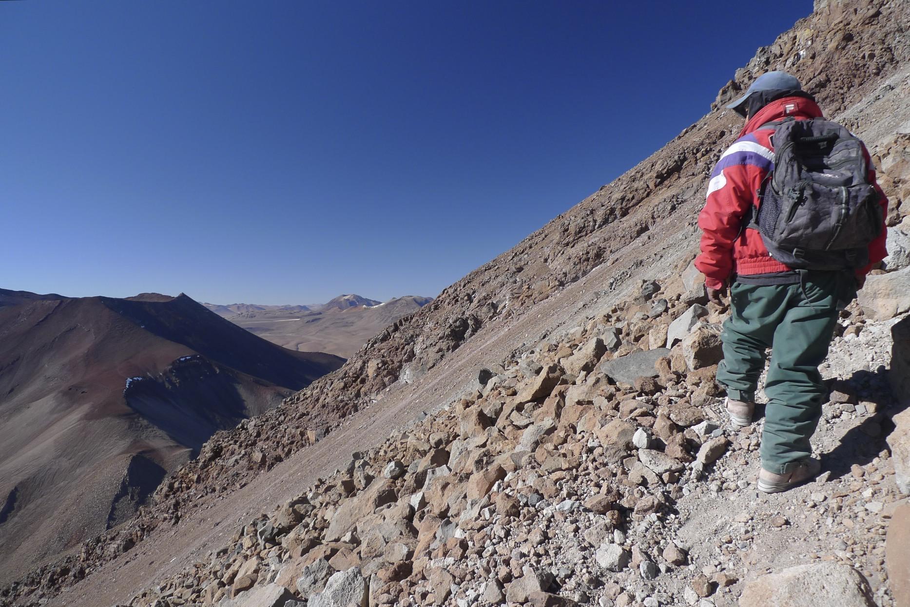 On the slopes of Licancabur Volcano