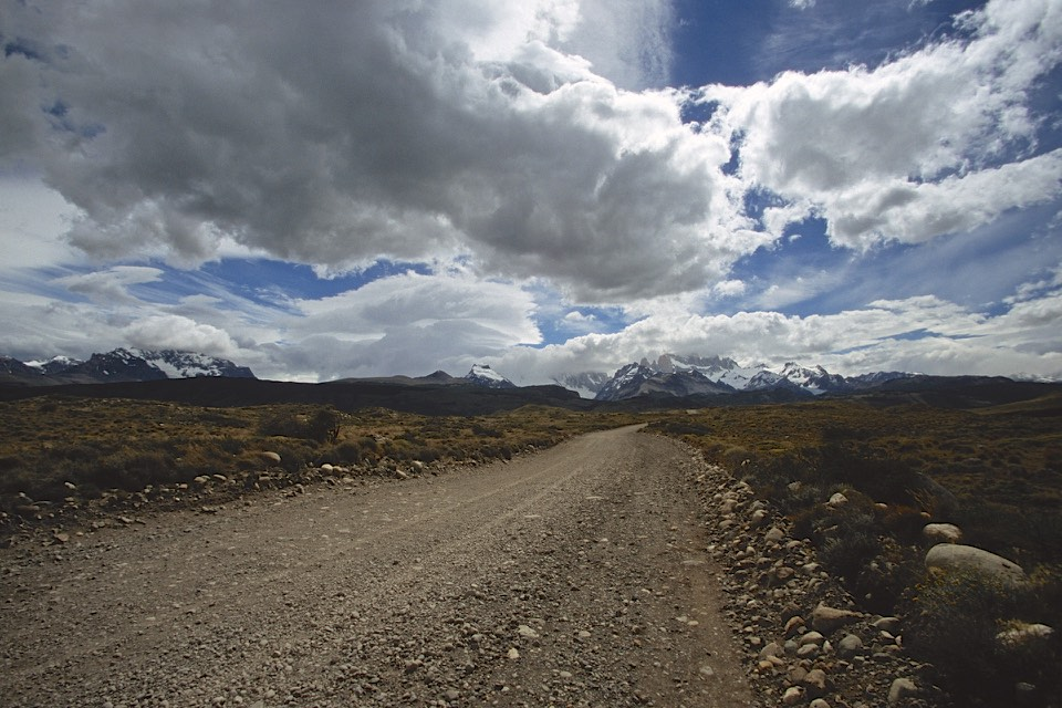 Approaching the village of El Chalten