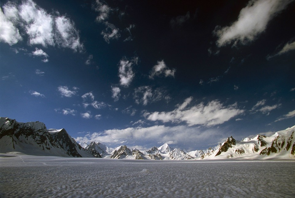 The Snow Lake, looking North West to the Shimshal Pass.