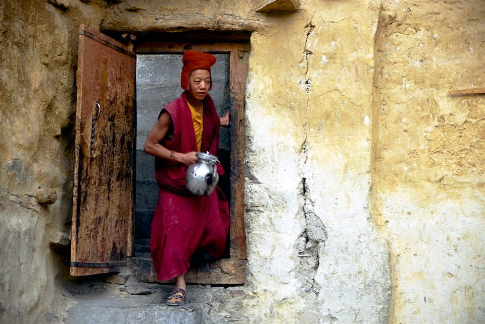 In Phuktal Gompa.