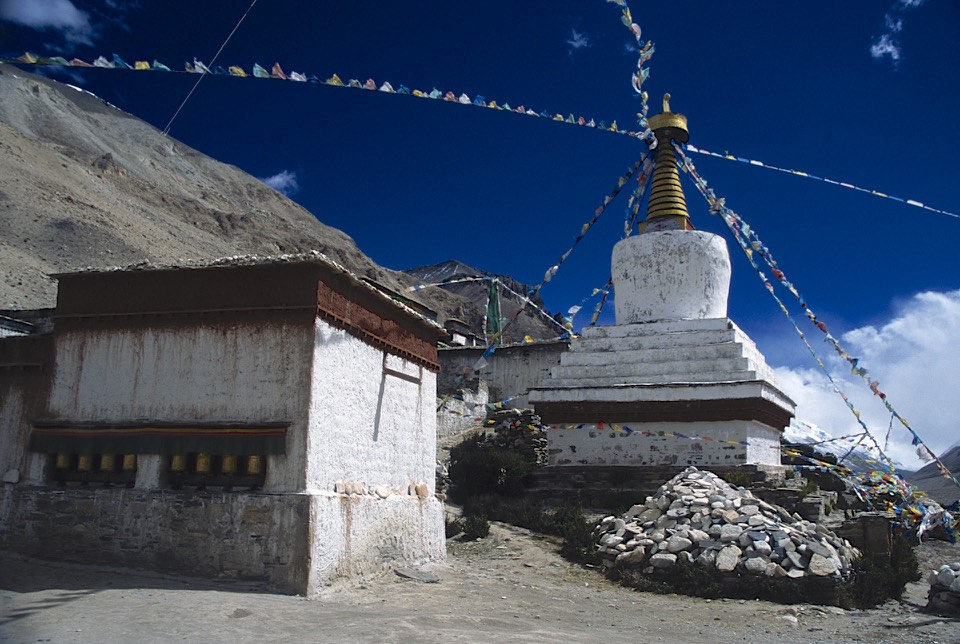 Rongbuk Monastery close to North side of Everest