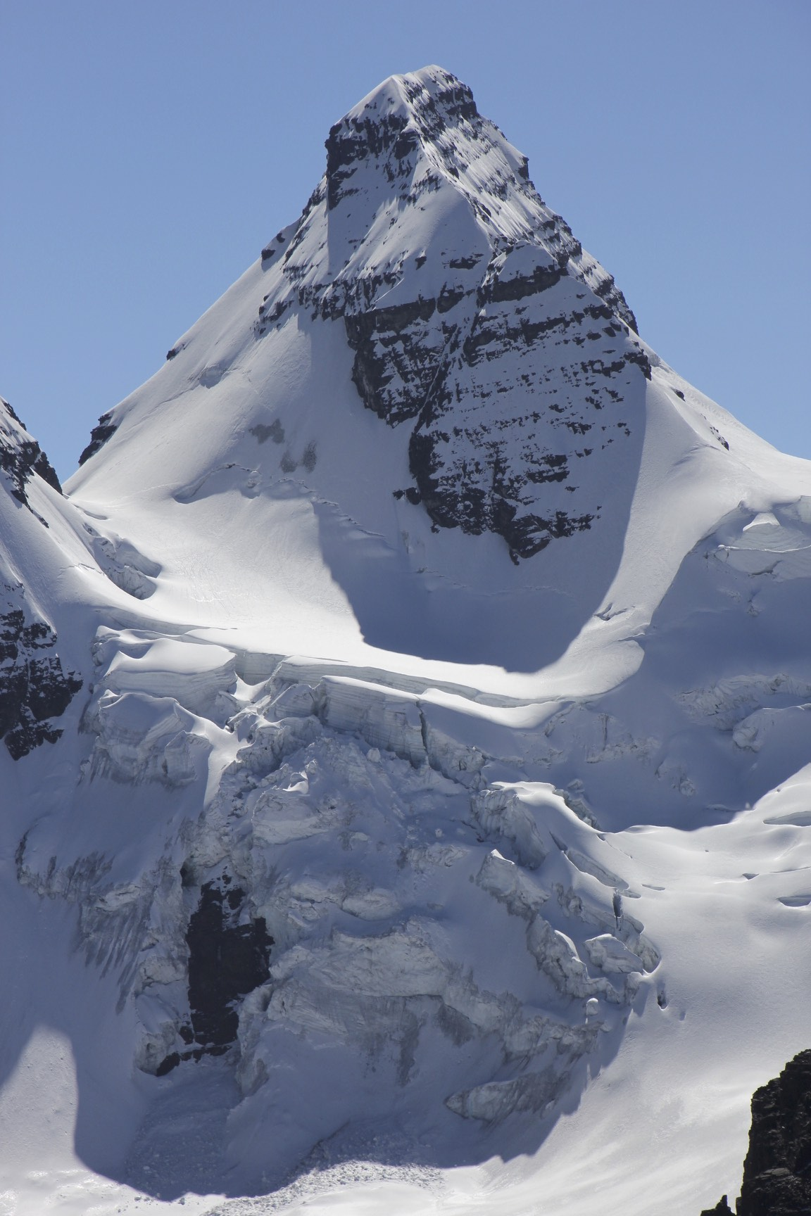 Condoriri 5,648m from Pico Austria 5,350 also known as the Matterhorn of Bolivia.