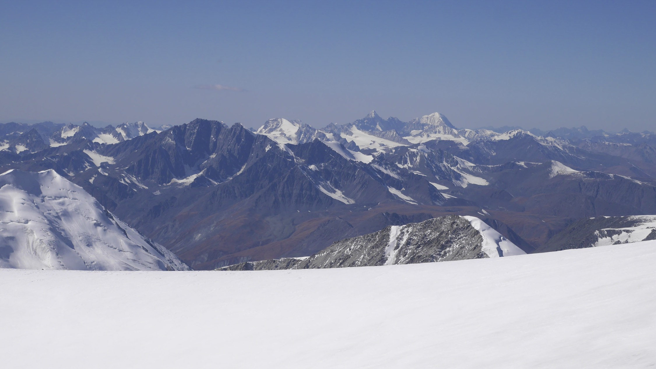 Russian Altai - Mount Bielucha from Mount Narimdal