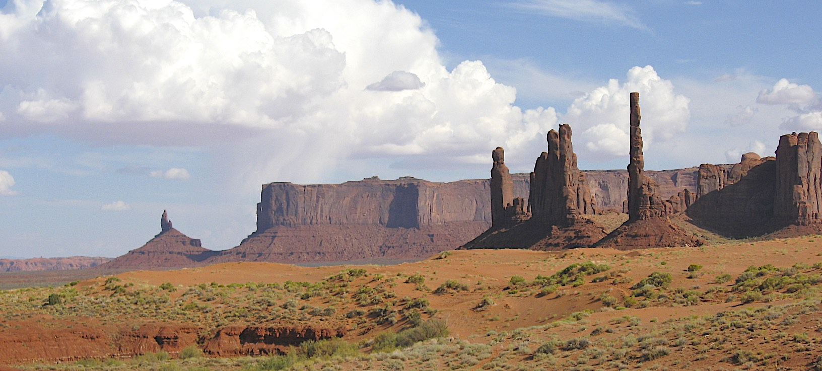 The Totem pole in The Monument Valley in the Navajo Tribal Lands