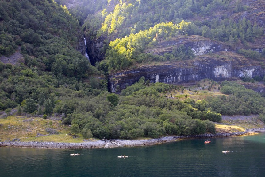 Kayaking near Flaam