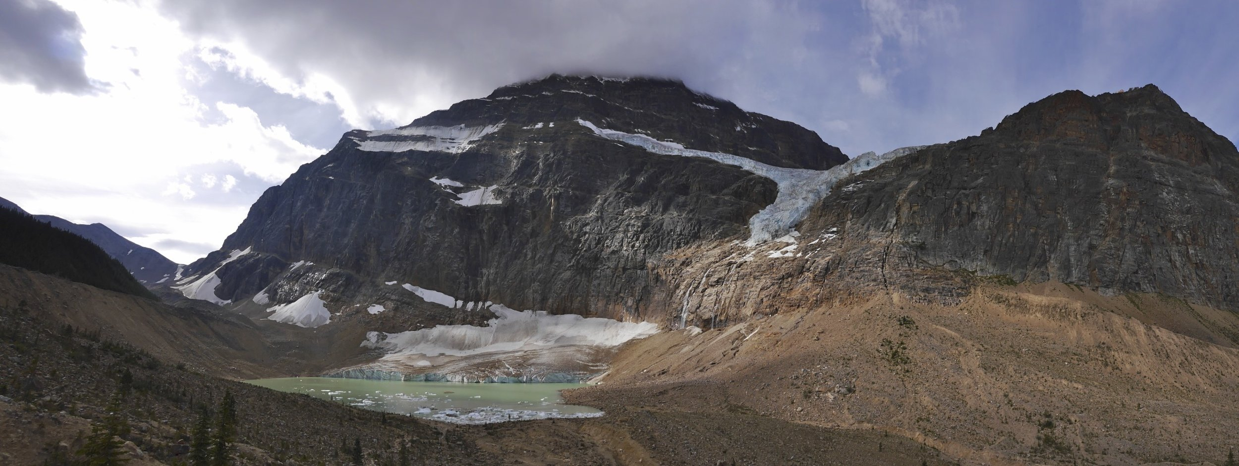 Mt. Edith Cavell at the start of the trail to the Tonquin Valley