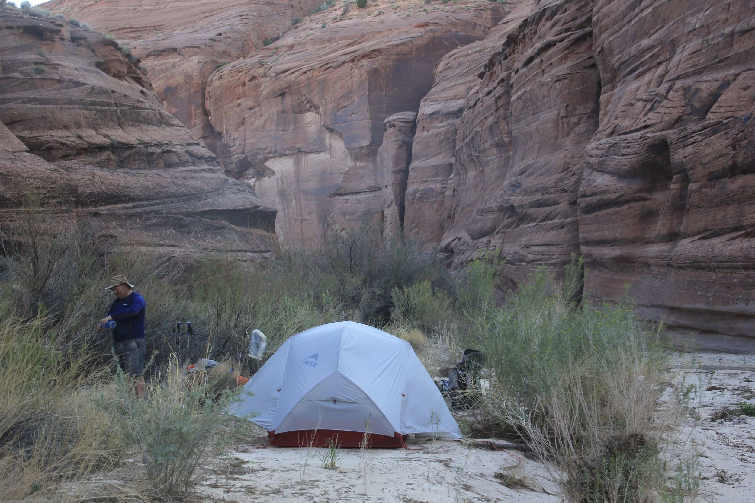 Our campsite on the banks of the Paria River.