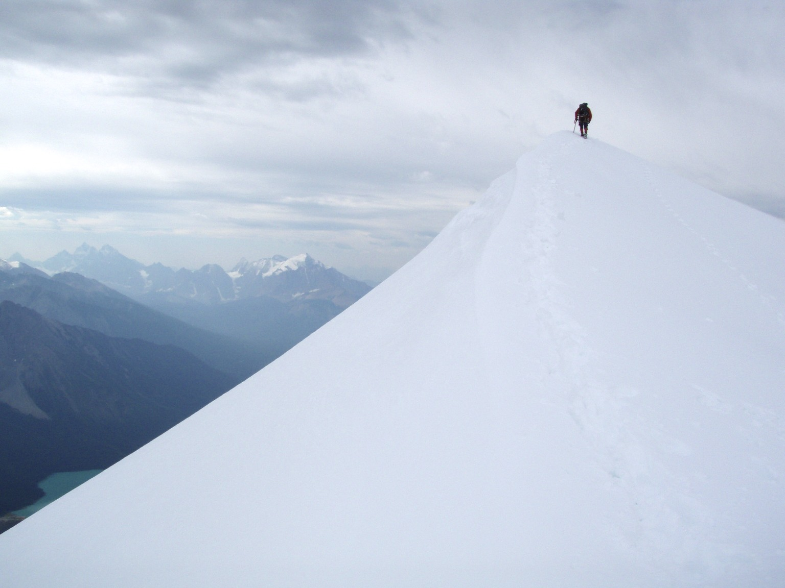 The summit of Mt. President 3,138m