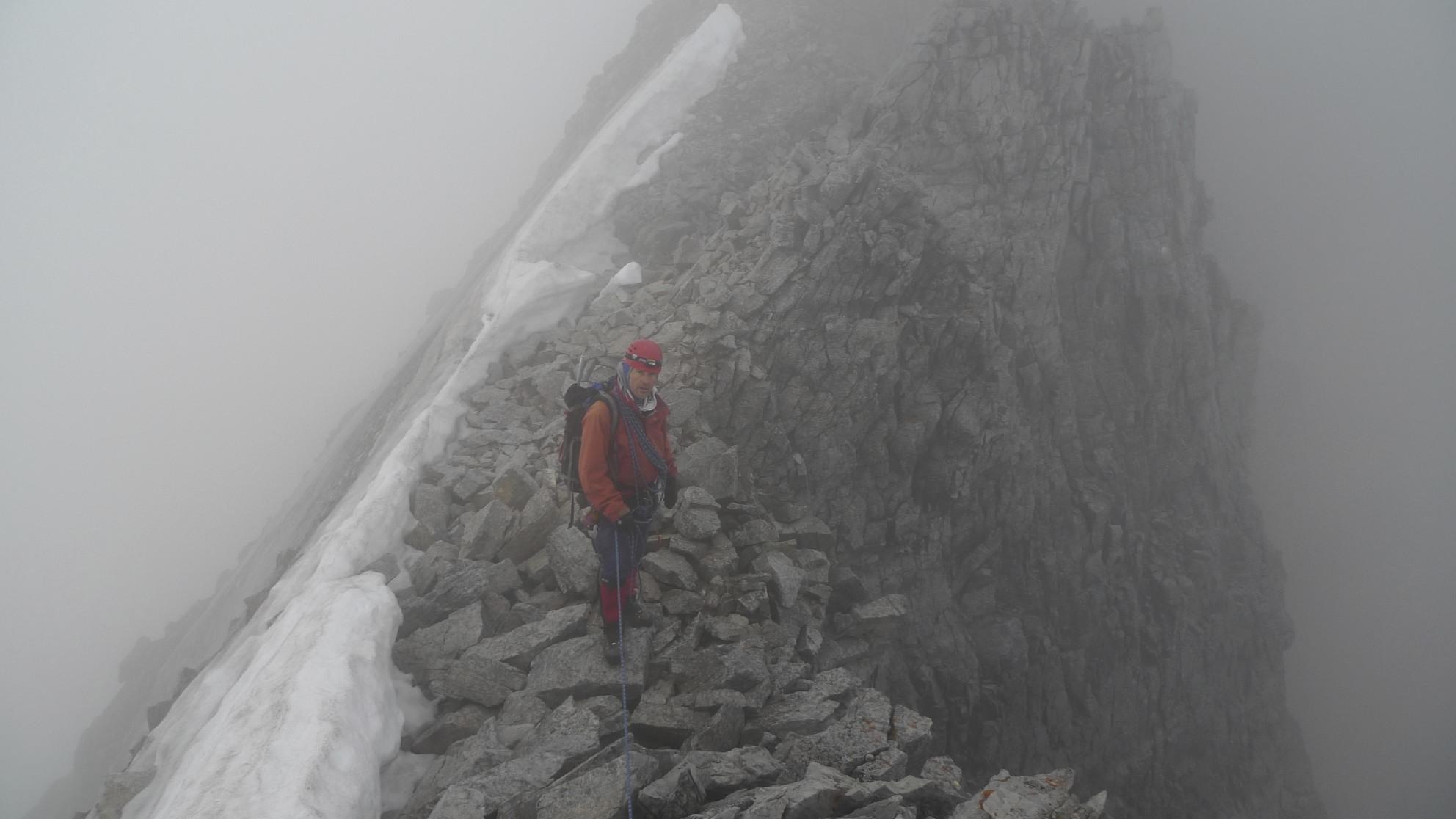 Summit ridge of Mt. Victoria