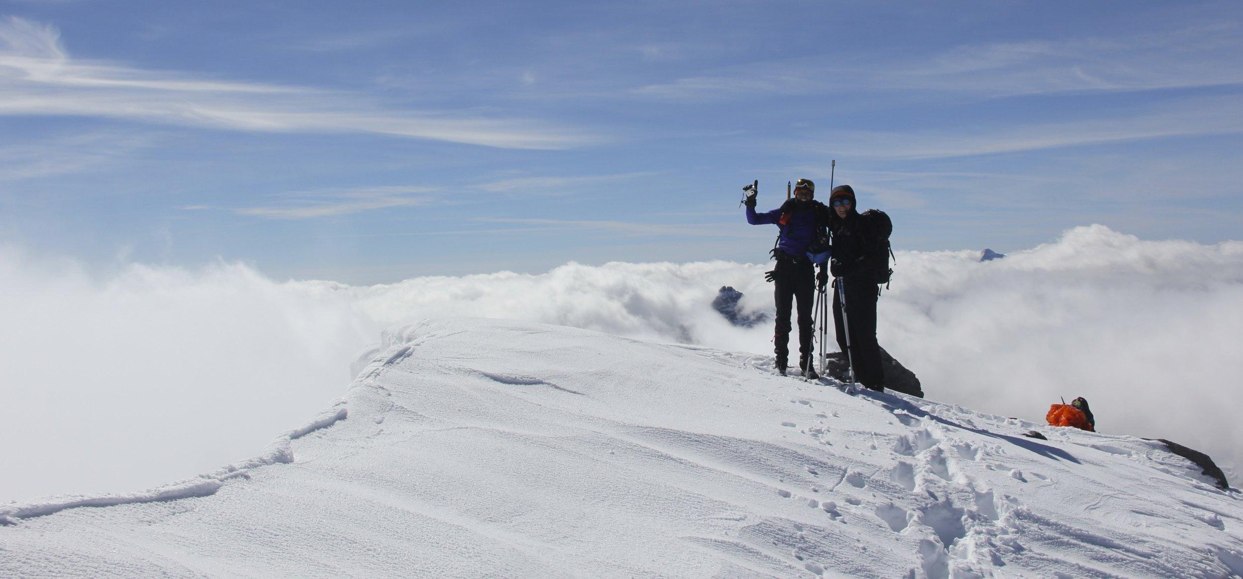Summit of Mt. Temple 3,544m