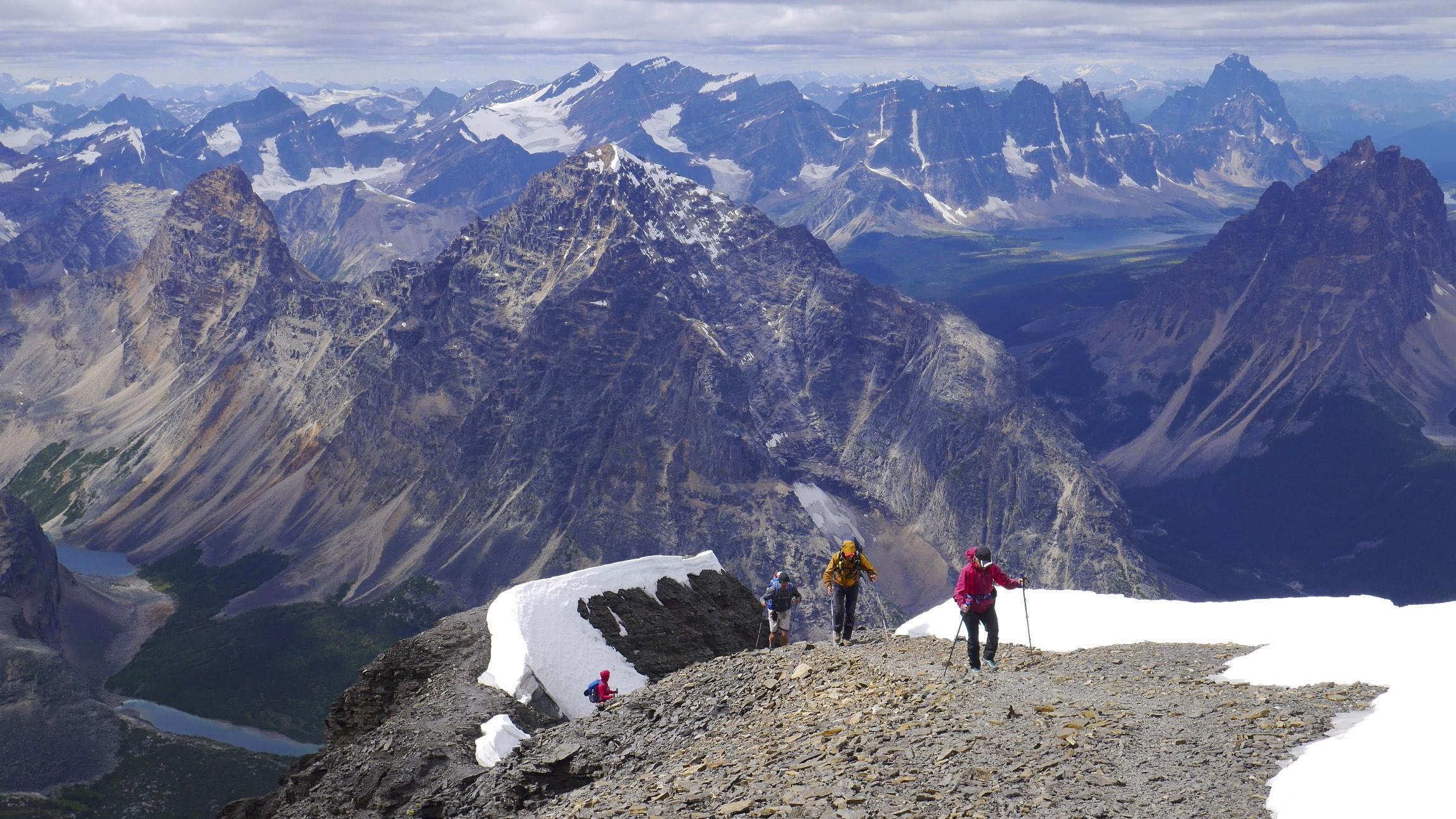 Climbing Mt. Edith Cavell - Summit Ridge