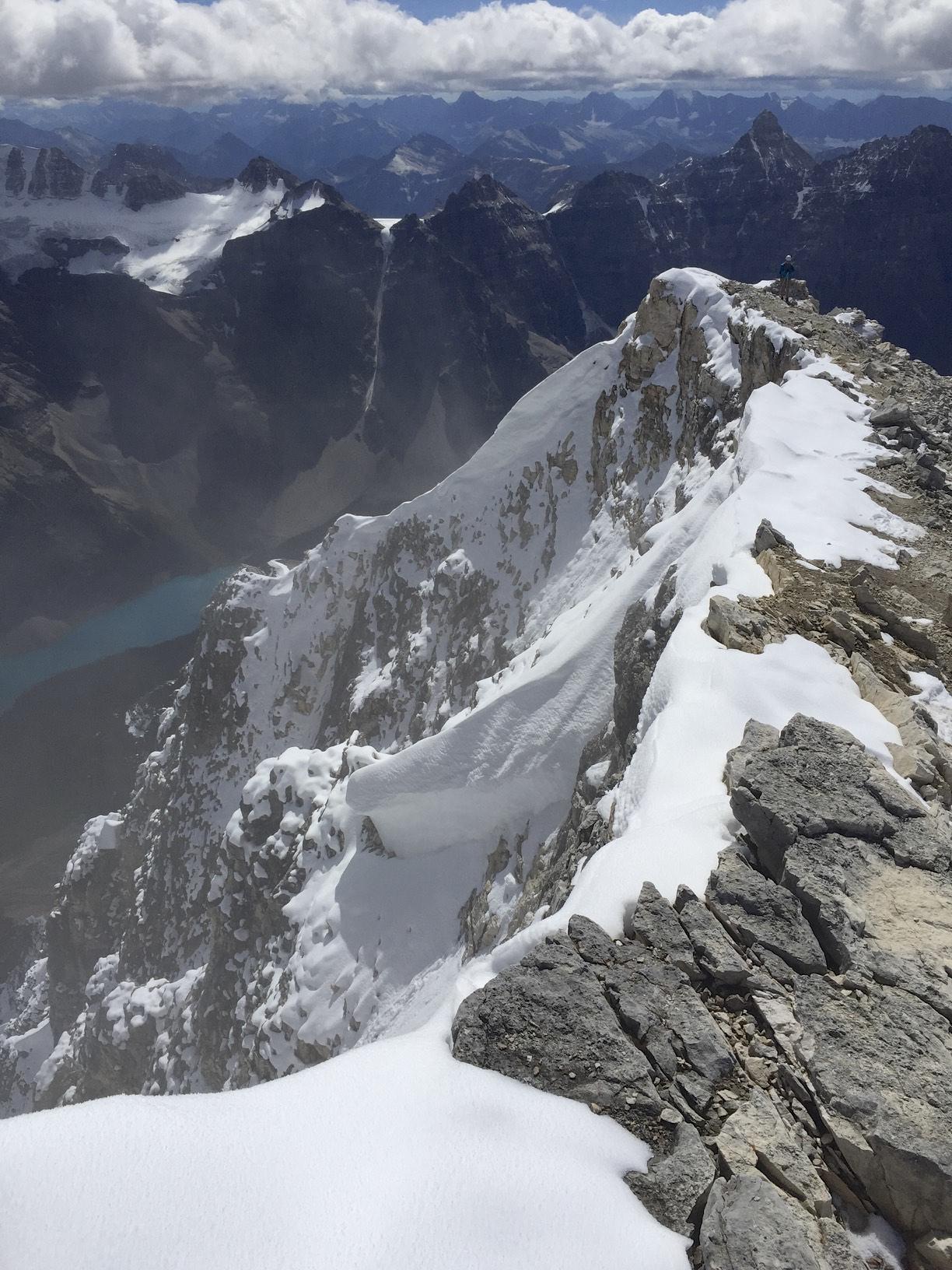 The summit ridge of Mt. Temple