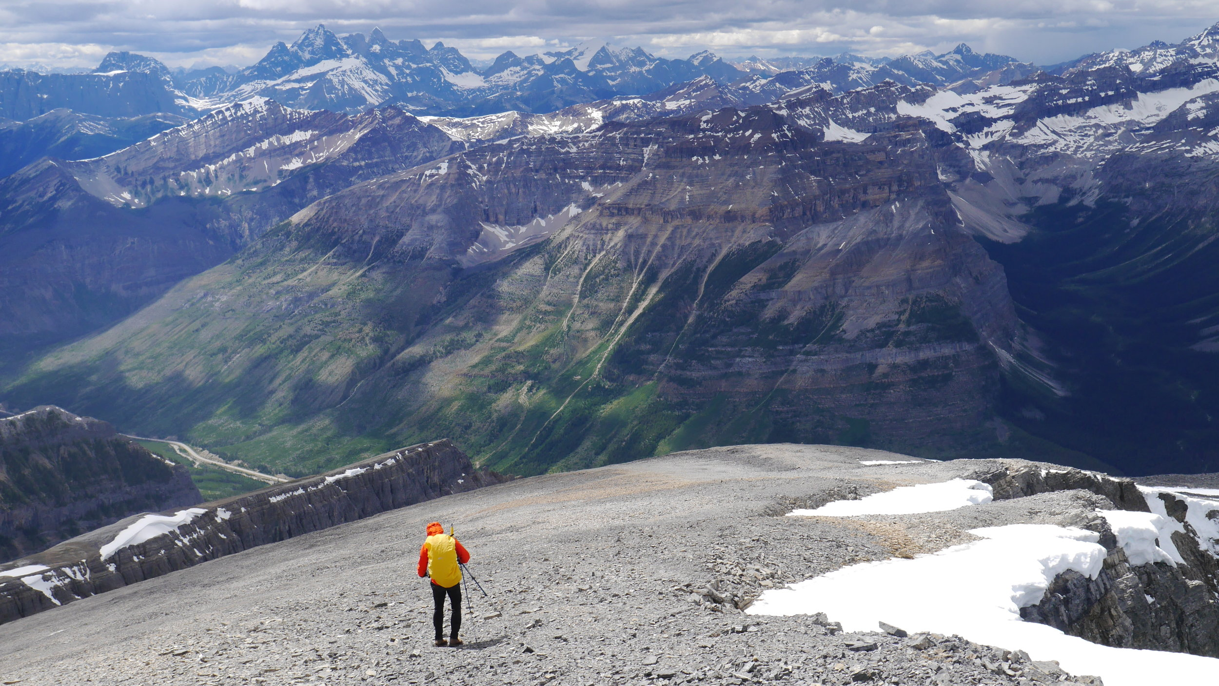 Looking towards Lake Louise group from Storm Mountain