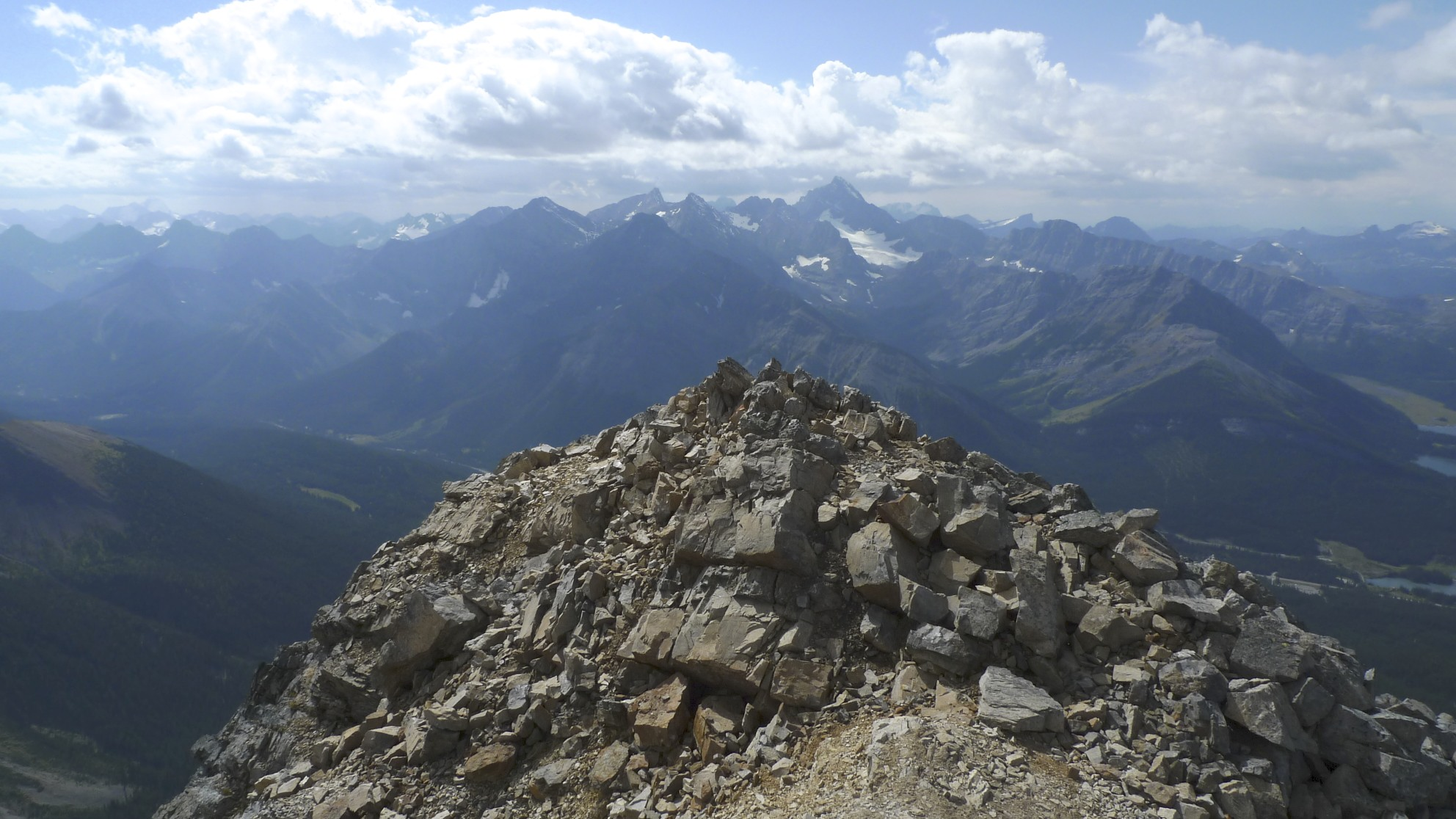 The summit of Mt. Chester 3,054m