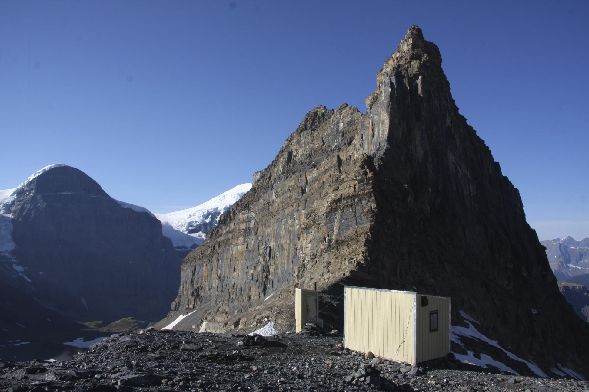 ACC hut in front ot Mt. Little Alberta