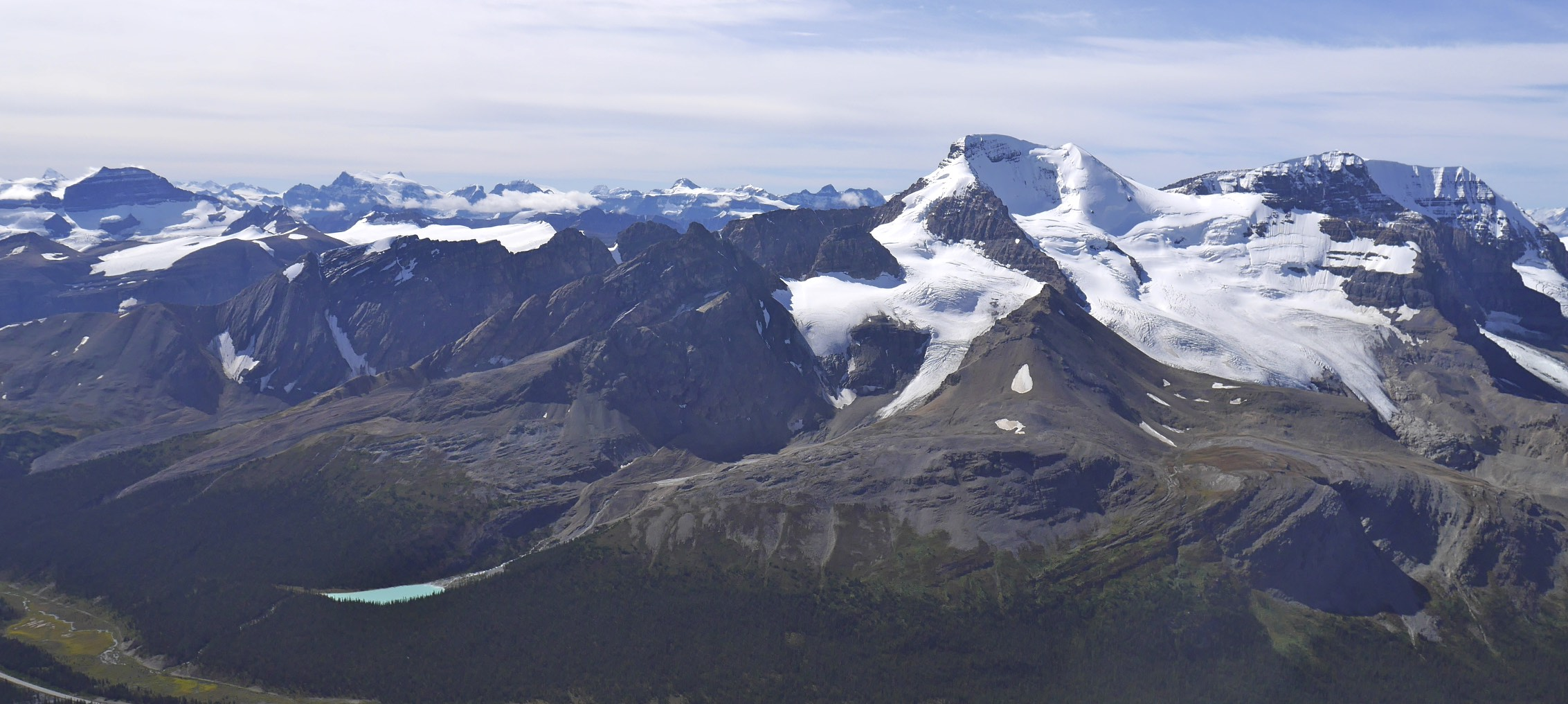 Mt. Athabasca from Nigel Peak 3,211m