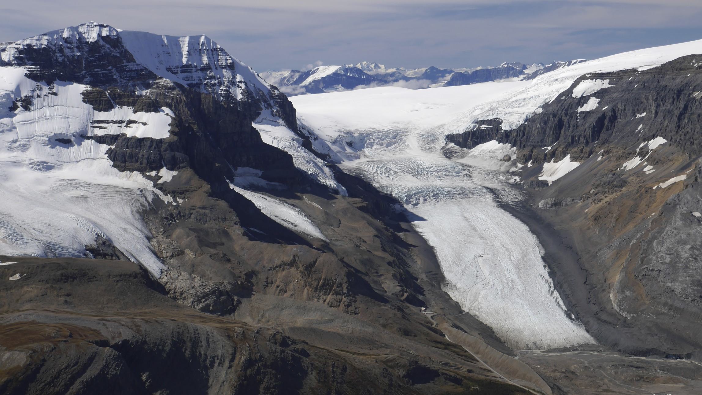 Athabasca Glacier and Columbia Icefield from Nigel Peak 3,211m