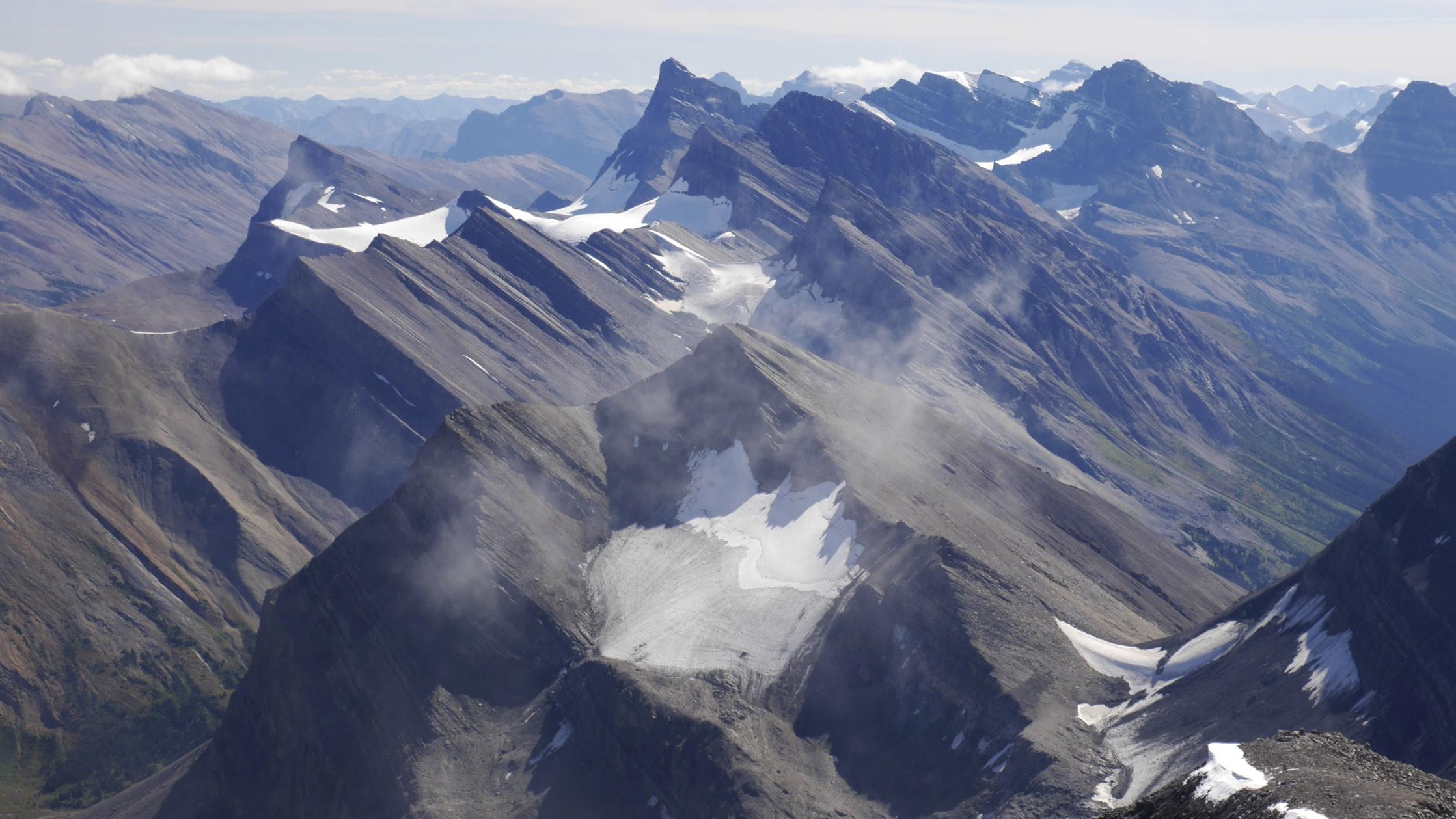Looking south from Nigel Peak