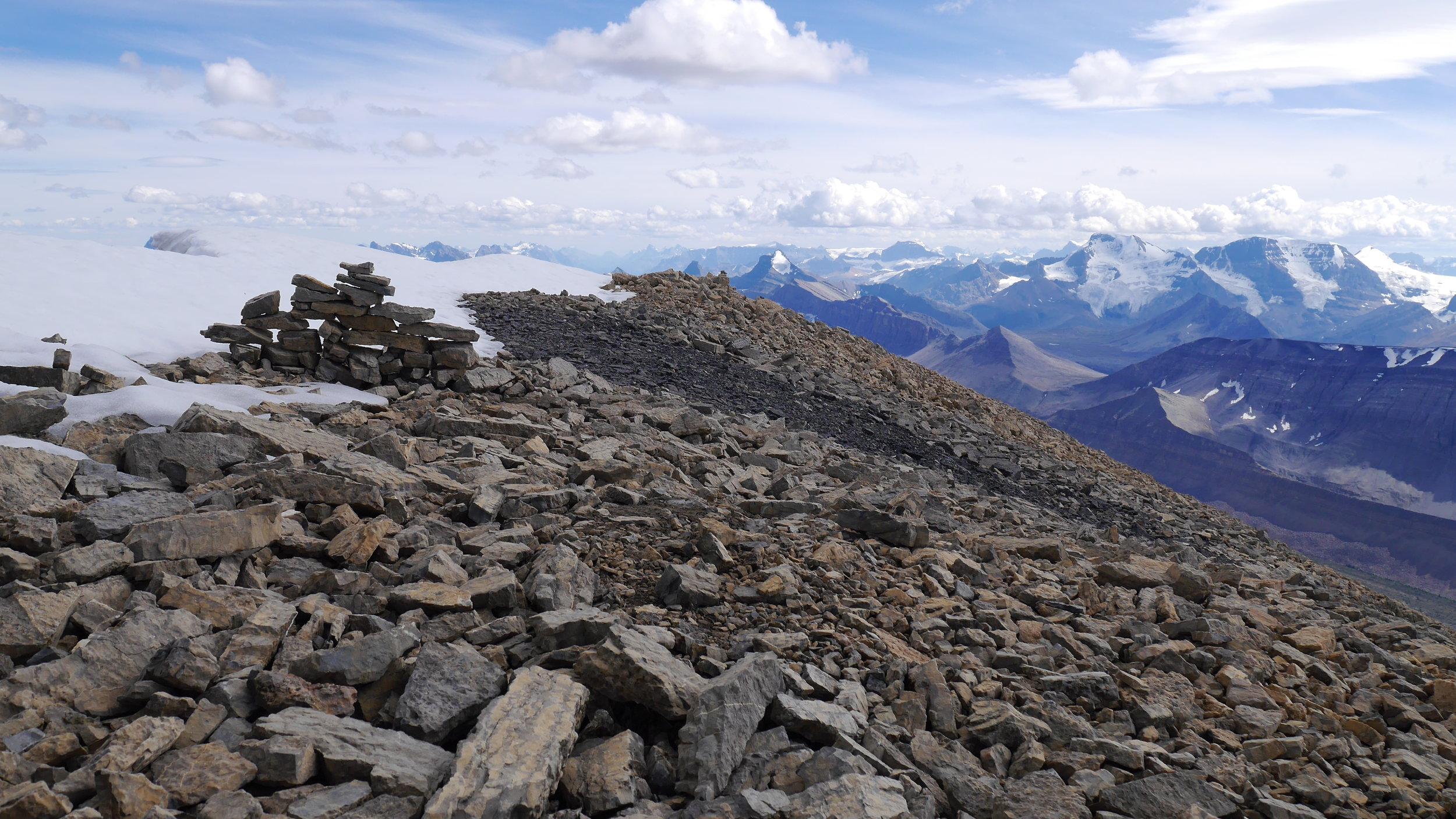 The summit of Sunwapta Peak 3,315m