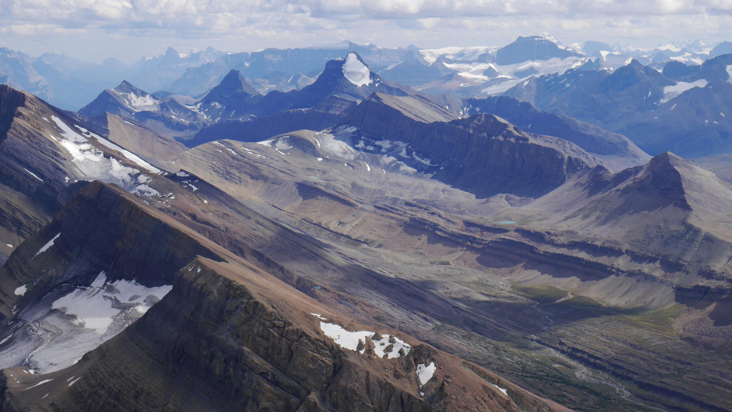 Nigel Peak from Sunwapta Peak 3,315m