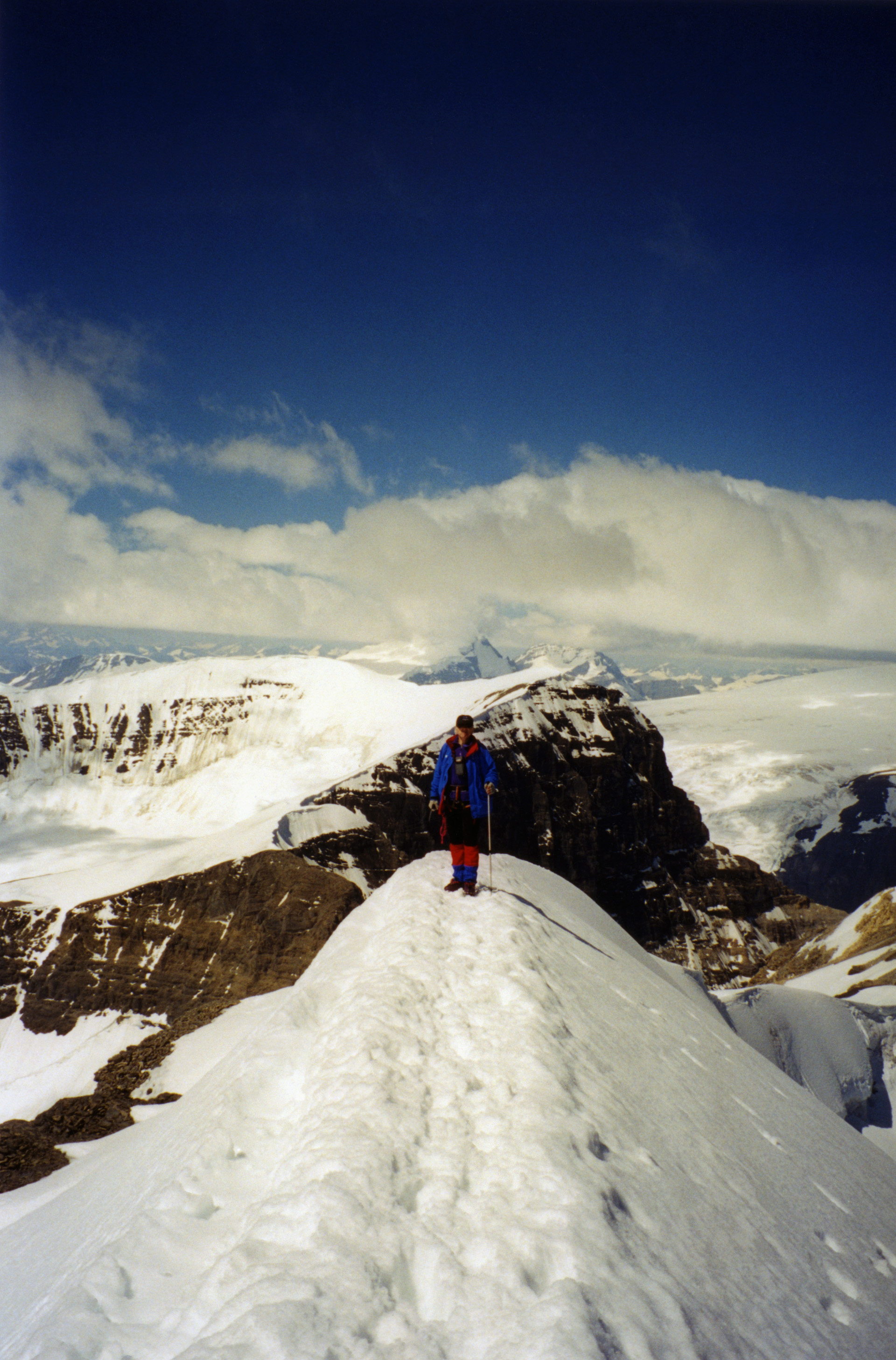 The summit of Mt. Athabasca