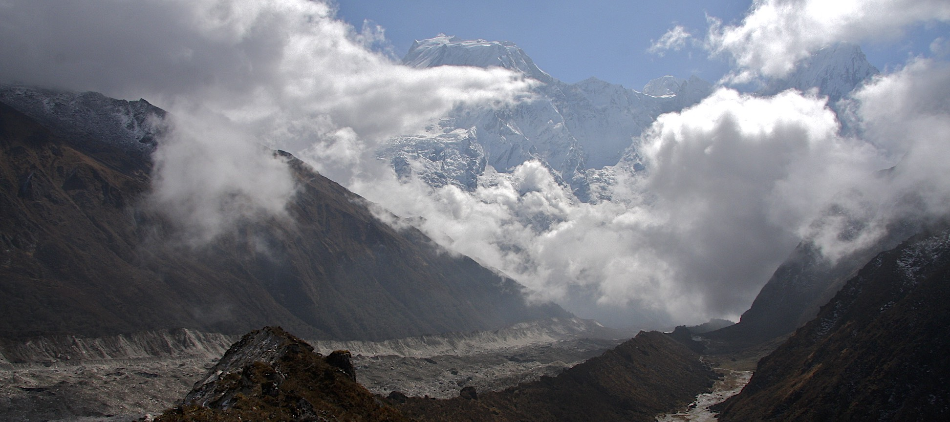 Manaslu and Tchoche Glacier