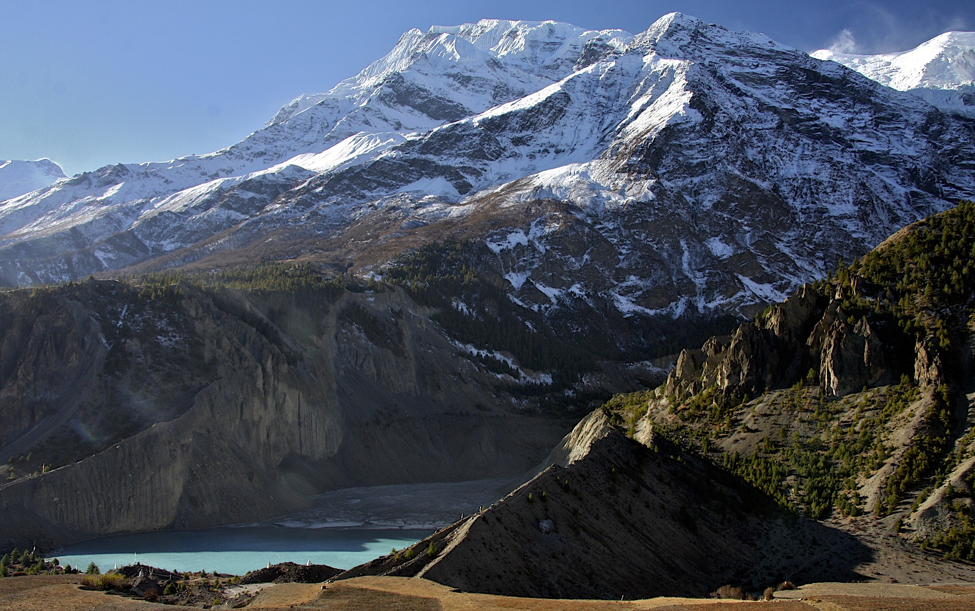 Annapurna III and Gangapurna from Manang