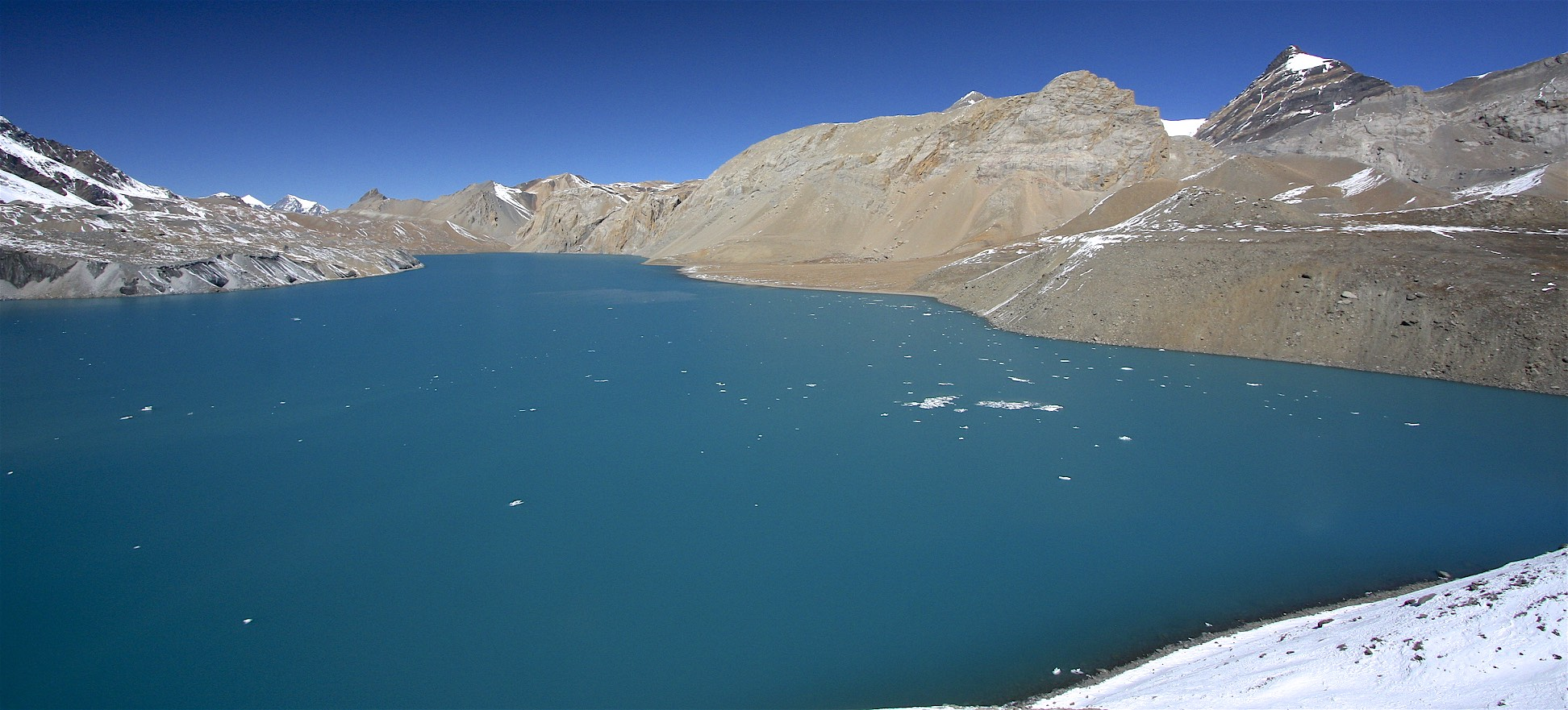 Tilicho Lake is located at an altitude of 4,919m. It is the highest lake int he world.