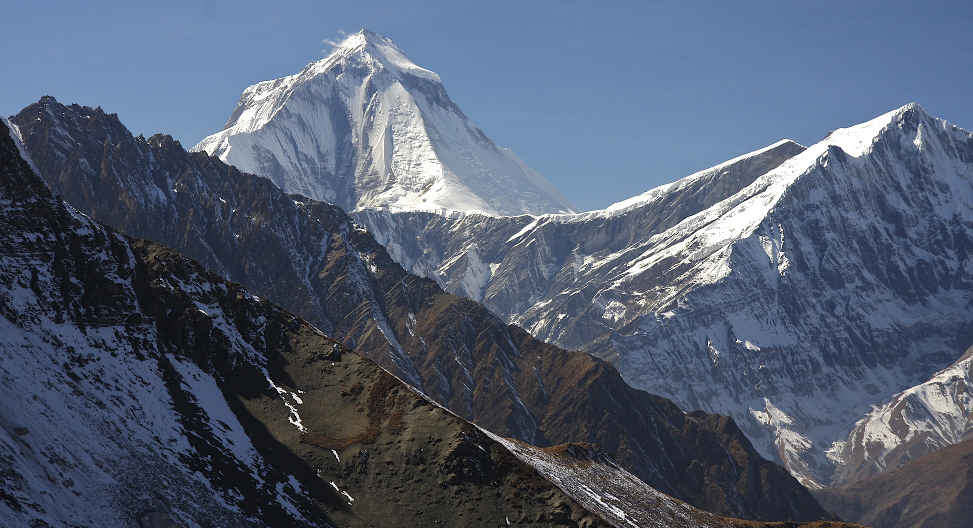 Dhaulagiri I and the Tukche Peak