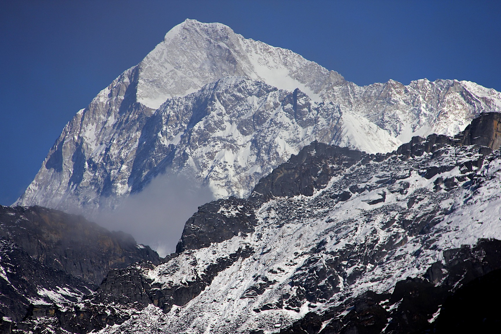 Shipton Pass and our first view of Makalu