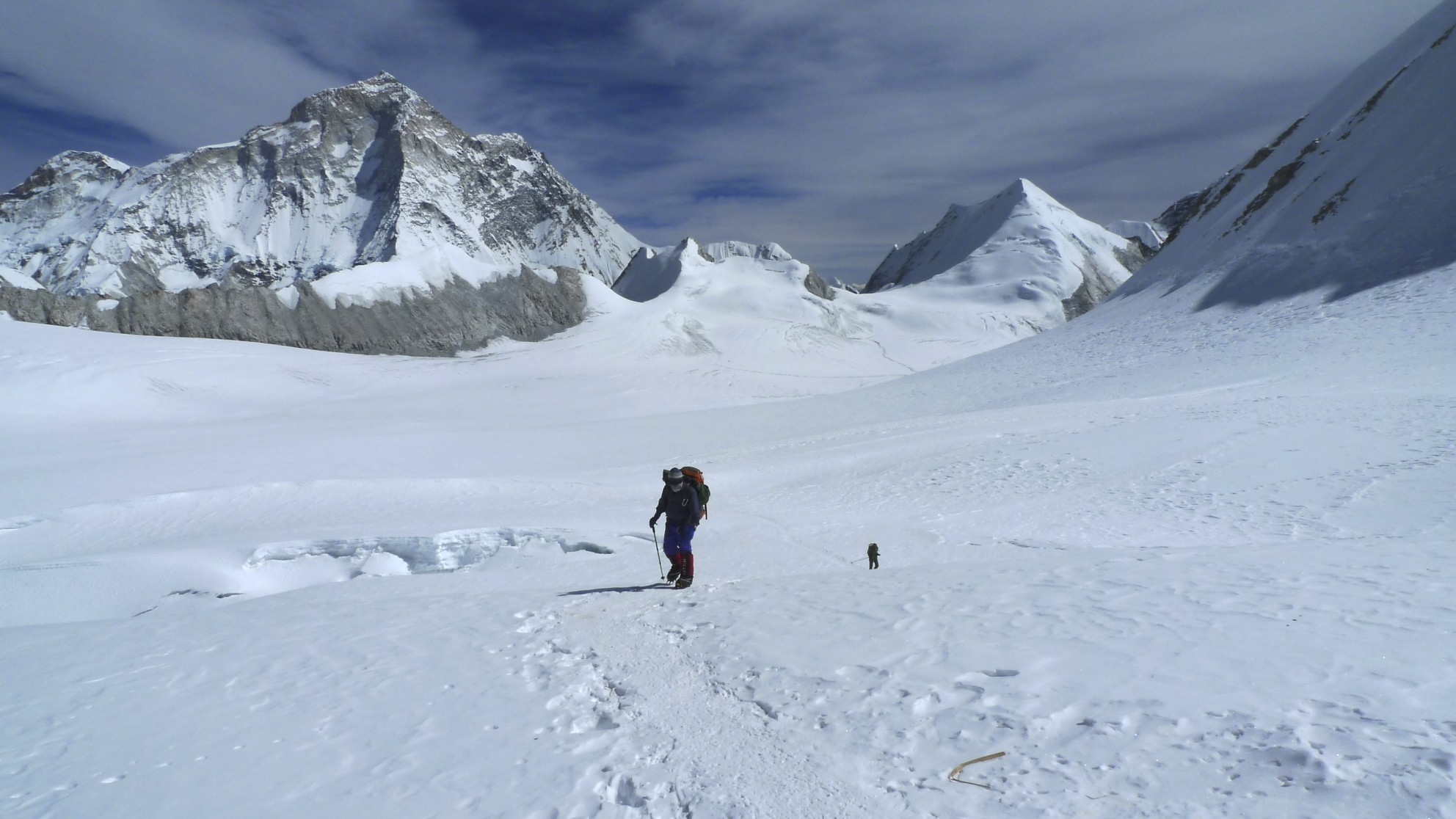 Looking back at Makalu from the West Col.
