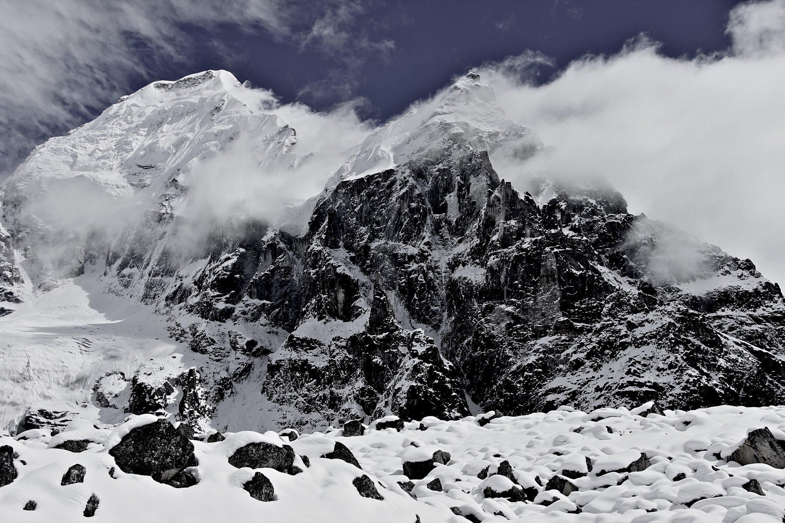 Kabru 7,311m and Ratong 6,679m