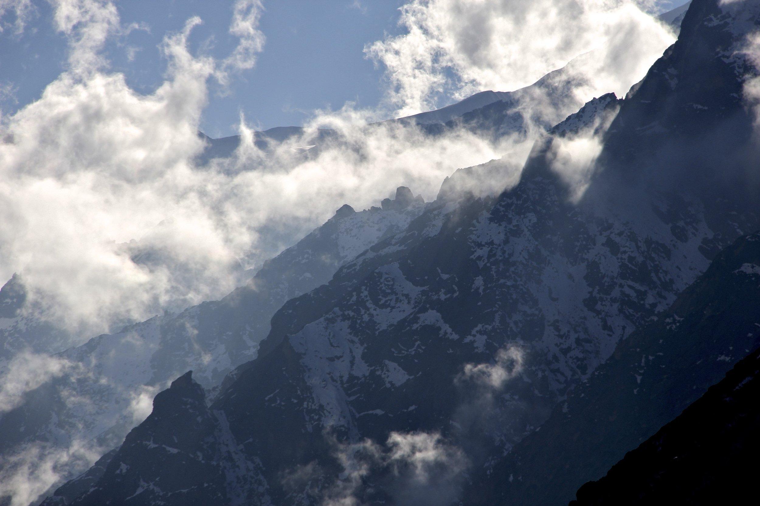 Beautiful ridges above the Kangchenjonga Glacier.