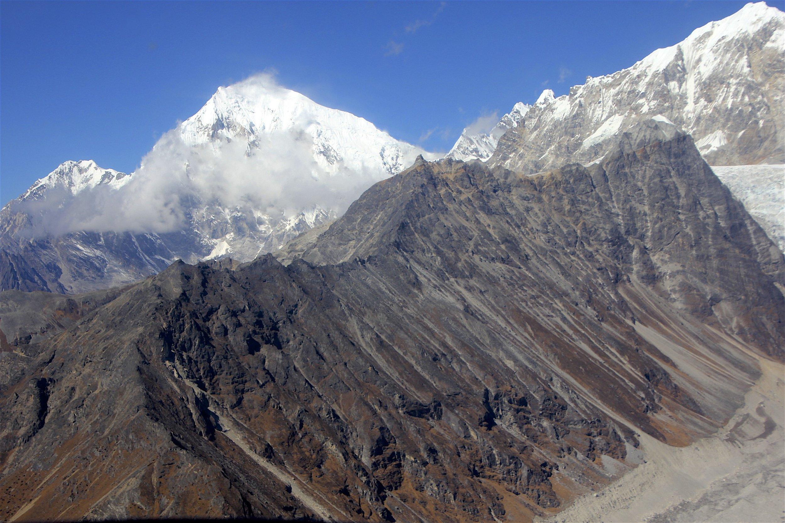 Yala Peak (the point on the ricky ridge) and Langtang Lirung behind