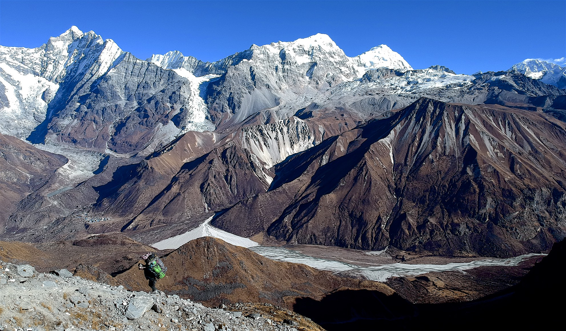 The Langtang Panorama from the ascent to the Ganjala