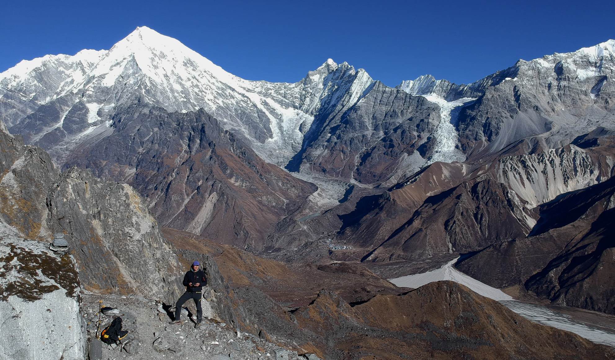 Langtang Lirung and the LL Glacier