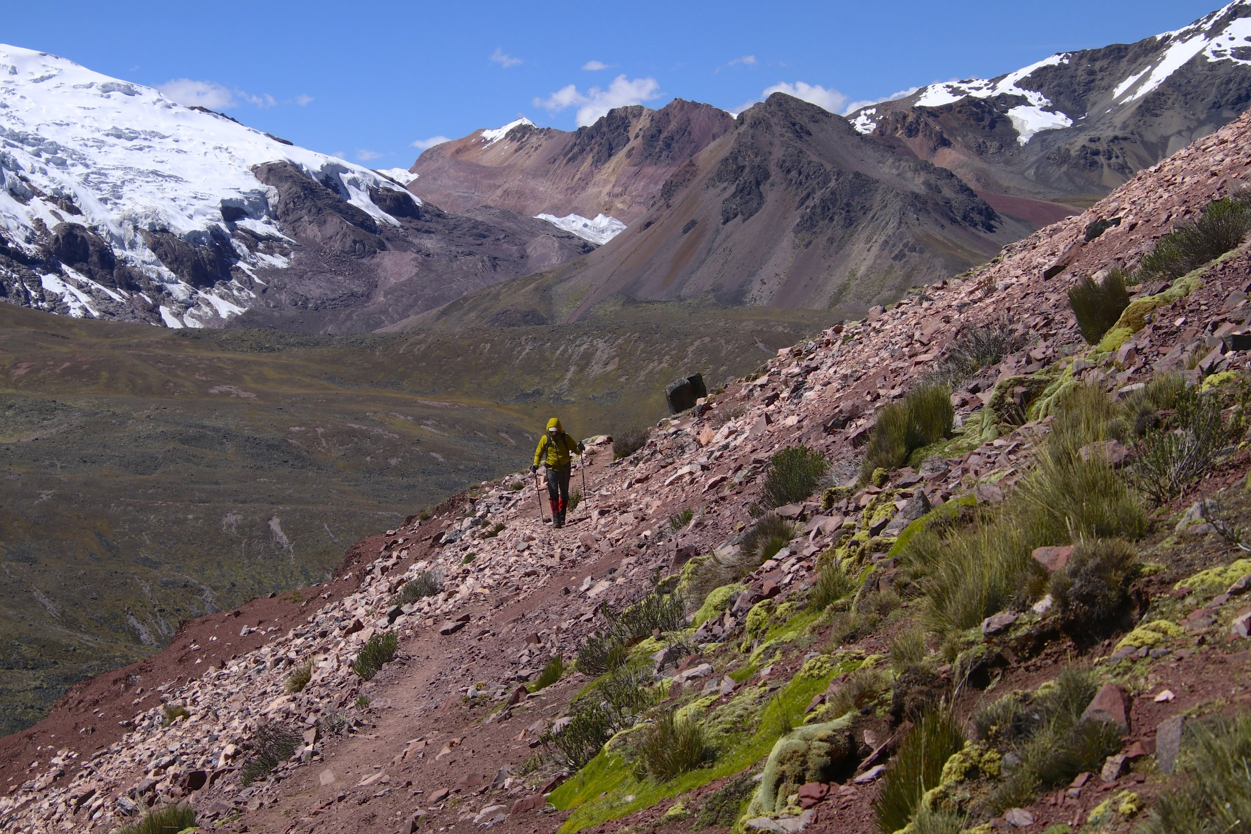 Approaching Jampa Pass at 5,000m and the scenery changed yet again. Every day on this trek we had different scenery!