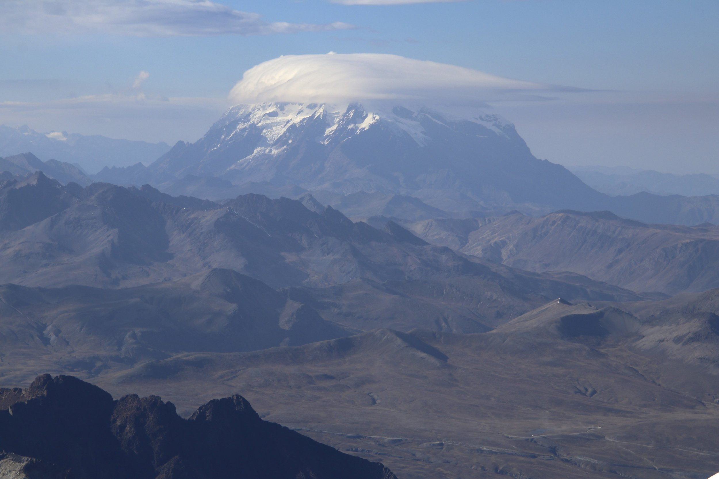 Illimani, the highest peak in the Royal Range.