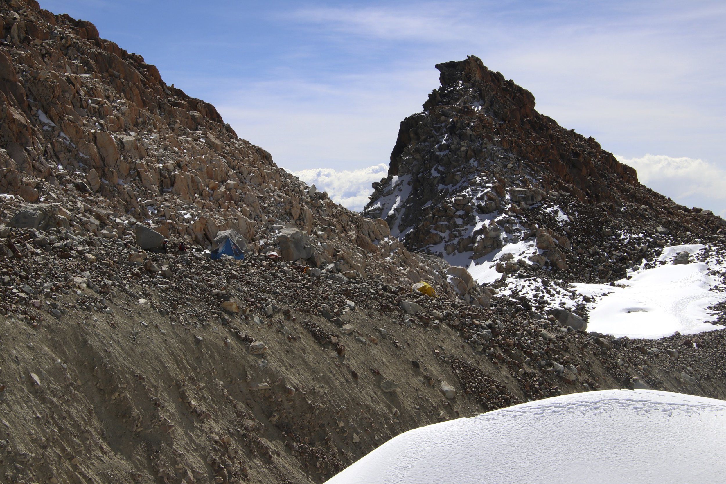 Our camp from the glacier