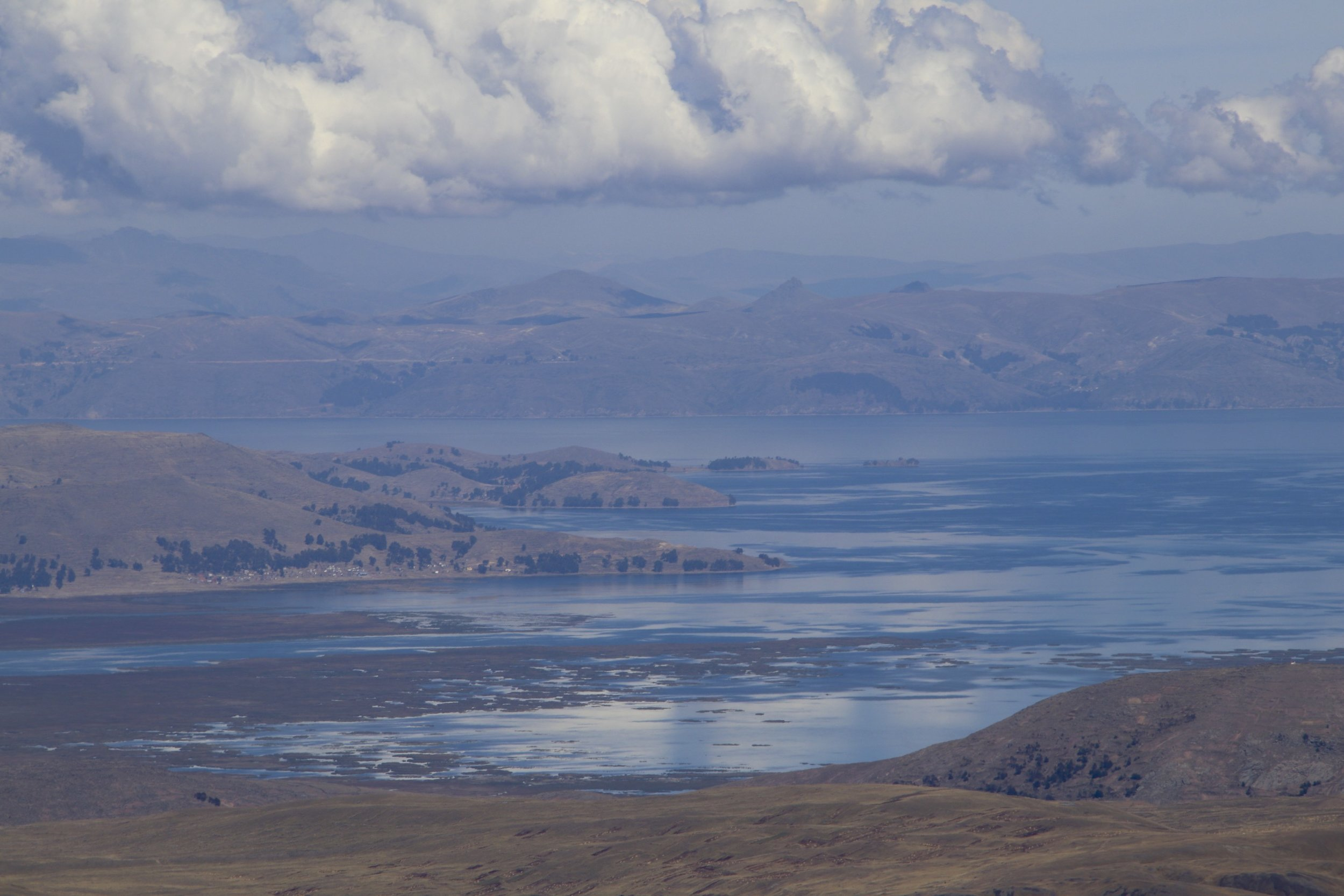 Lake Titikaka from 5,000m