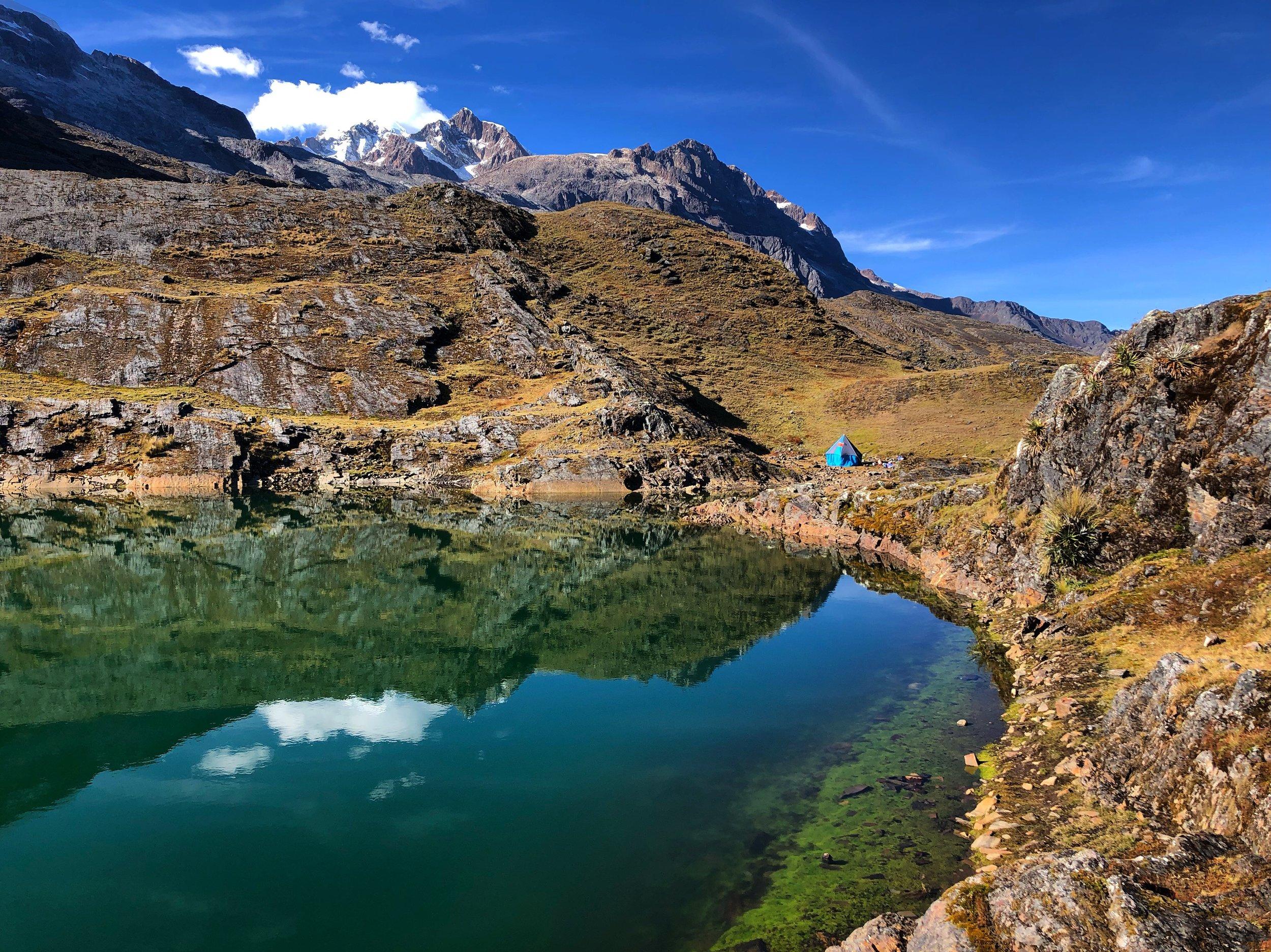 Our camp at Laguna Chillata.