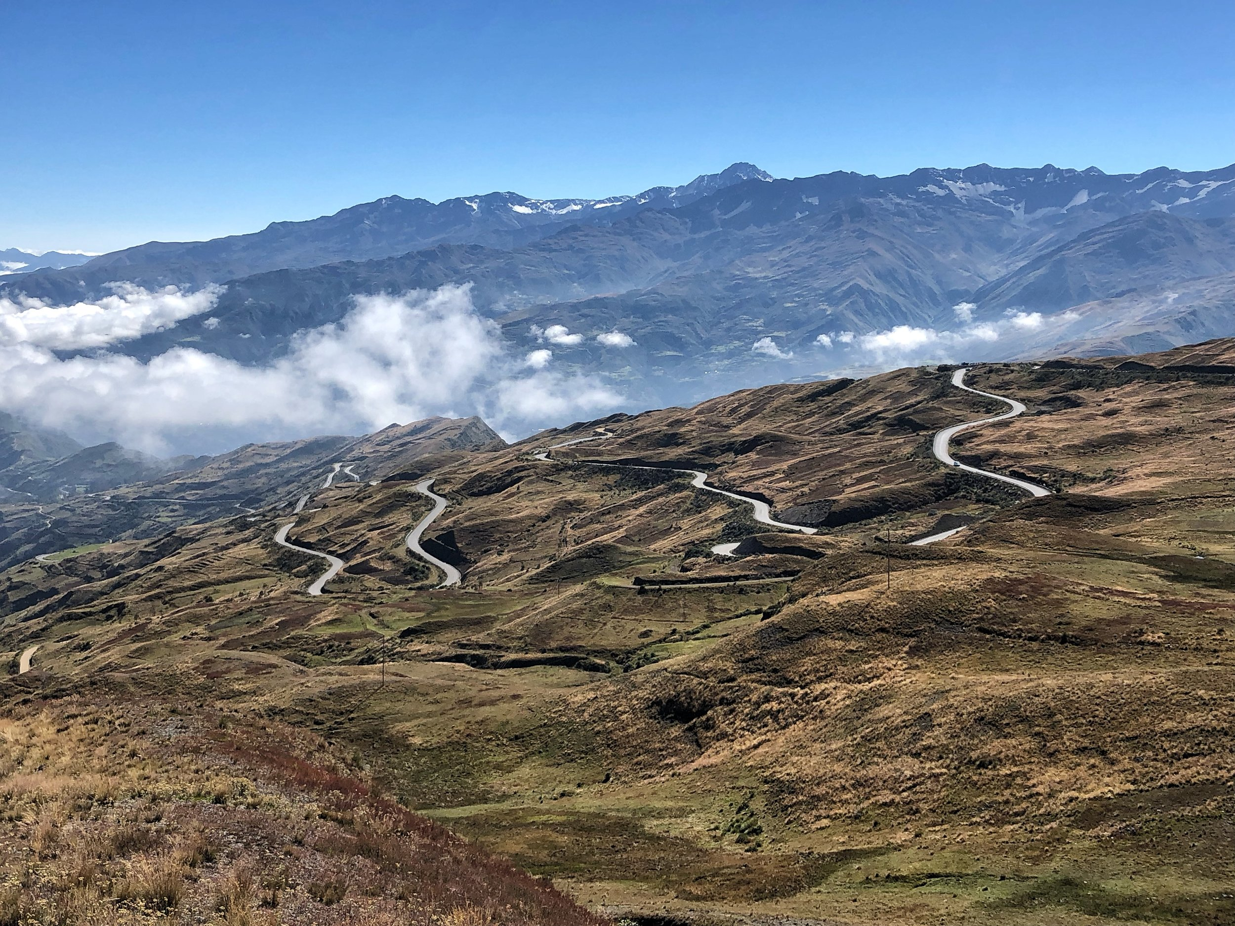 The road from La Paz to Sorata. The town of Sorata is at an altitude of 2,800m. I was there in 2010 and always wanted to come back to climb Ancohuma.
