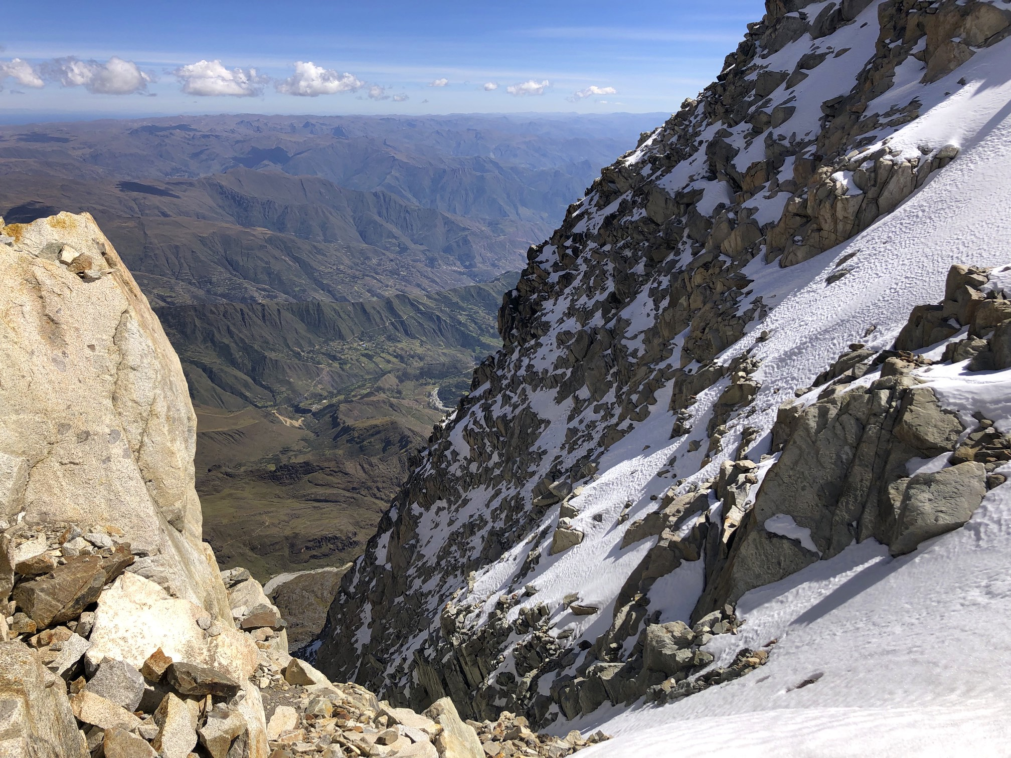 Looking down to the Altiplano from 5,350m near the high camp.