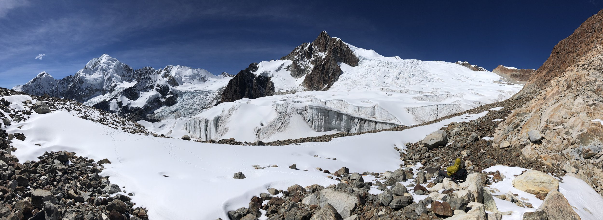 Panoramic view from the door of our tent.