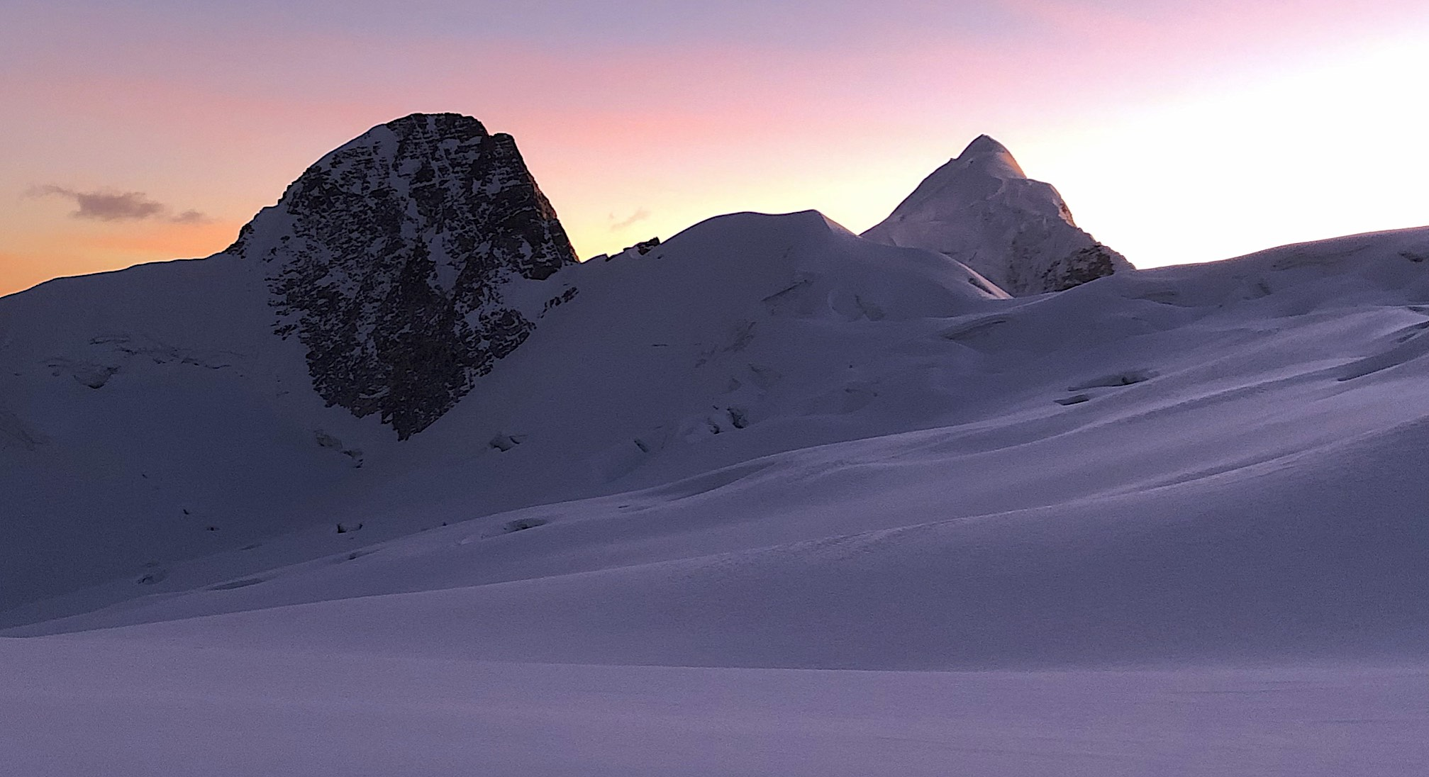 Illampu at sunrise.